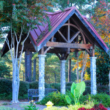 Walking trail and gazebo at Park Springs
