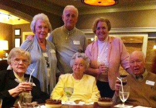 Front row: Liz Brigham, Carol Scott, Dick Sayre Back Row: Jean Sayre, Ed Brigham, Marianne Cheek