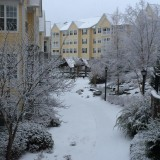Park Springs Atlanta Senior Living Community Covered in Snow