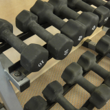Weights in Fitness Center at Park Springs