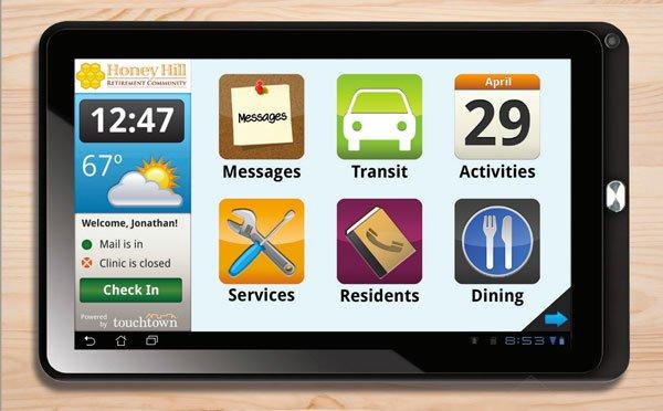TouchTown Park Springs App on an iPad