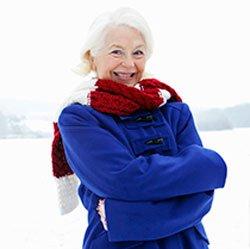 Park Springs resident dressed for winter