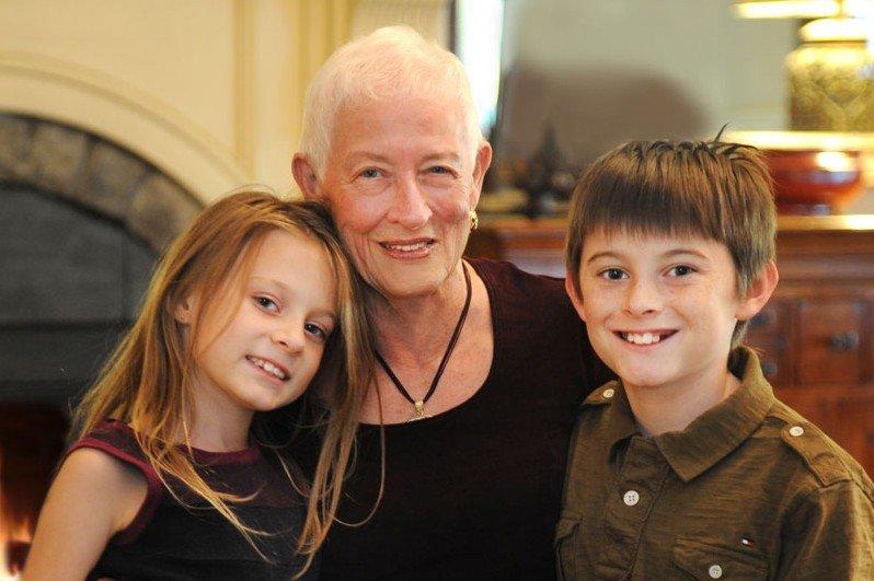 Pat Thomas and family
