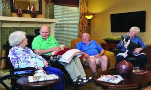 Park Springs memory care members talking