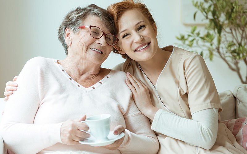 Older-Woman-With-Caregiver