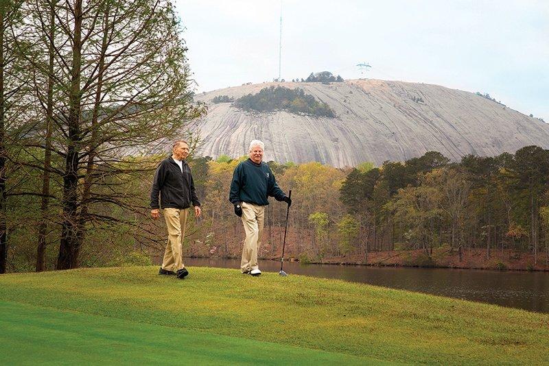 Two-Men-Golfing-Mountain