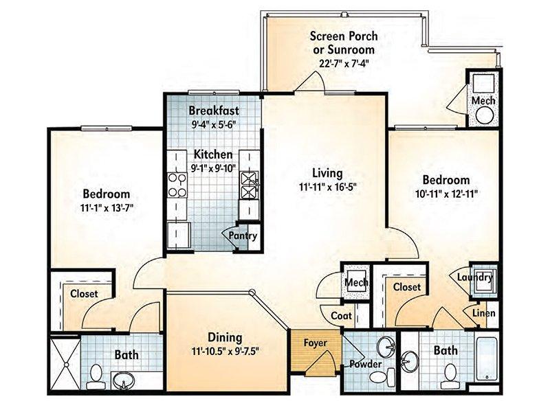 Ocmulgee Floorplan