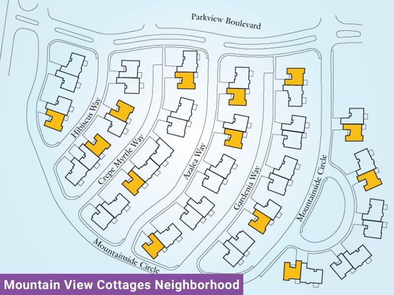 Mountain View Cottages Neighborhood Unit C1 Map