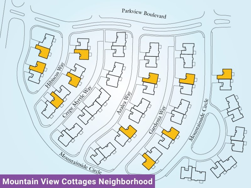 Mountain View Cottages Neighborhood Unit C2 Map