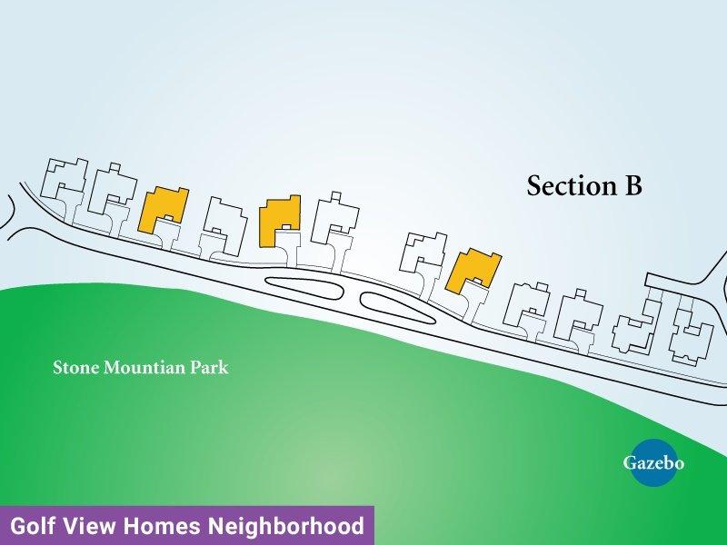 Golf View Homes Neighborhood Unit B4 Map