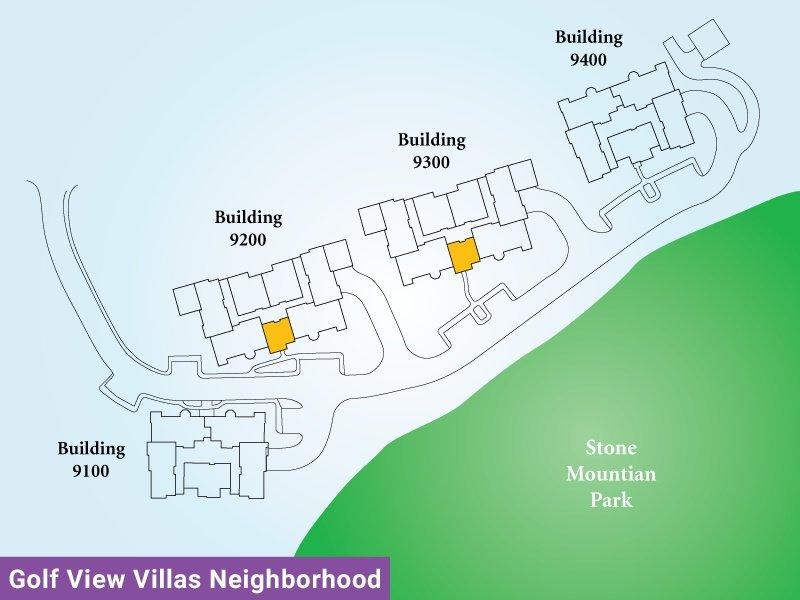 Golf View Villas Unit O Map