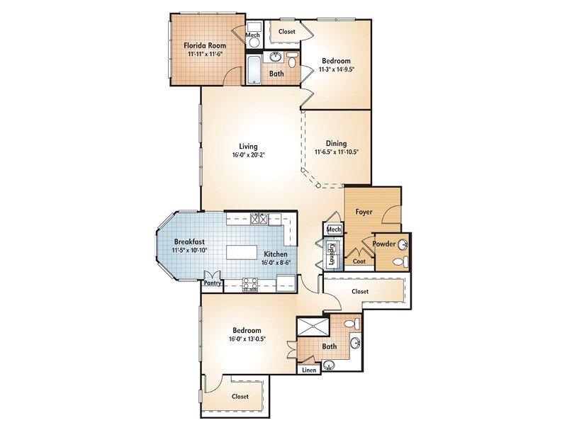 Peachtree Floorplan