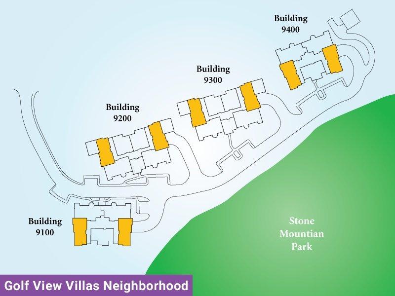 Golf View Villas Unit R Map