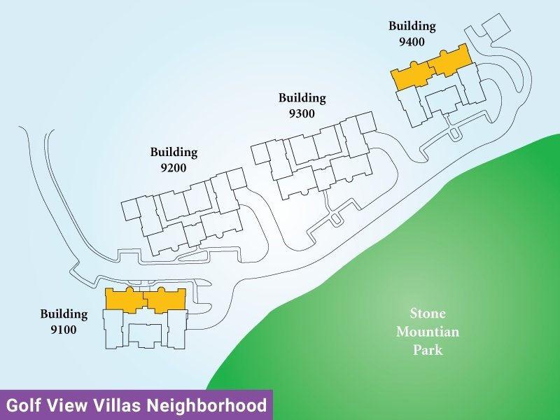 Golf View Villas Unit T Map