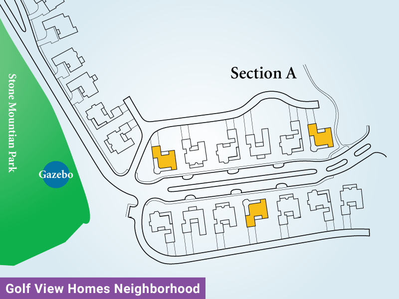 Golf View Homes Neighborhood Unit A1 Map