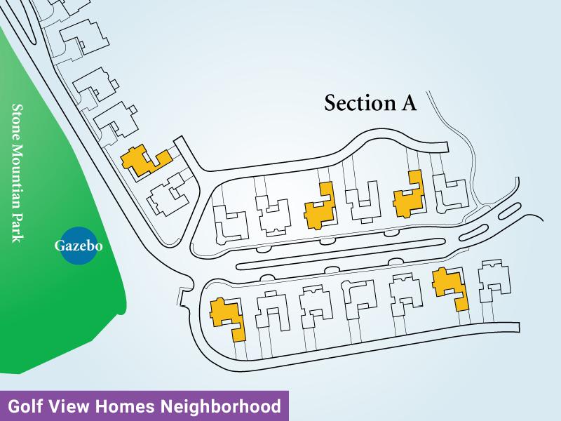 Golf View Homes Neighborhood Unit A2 Map