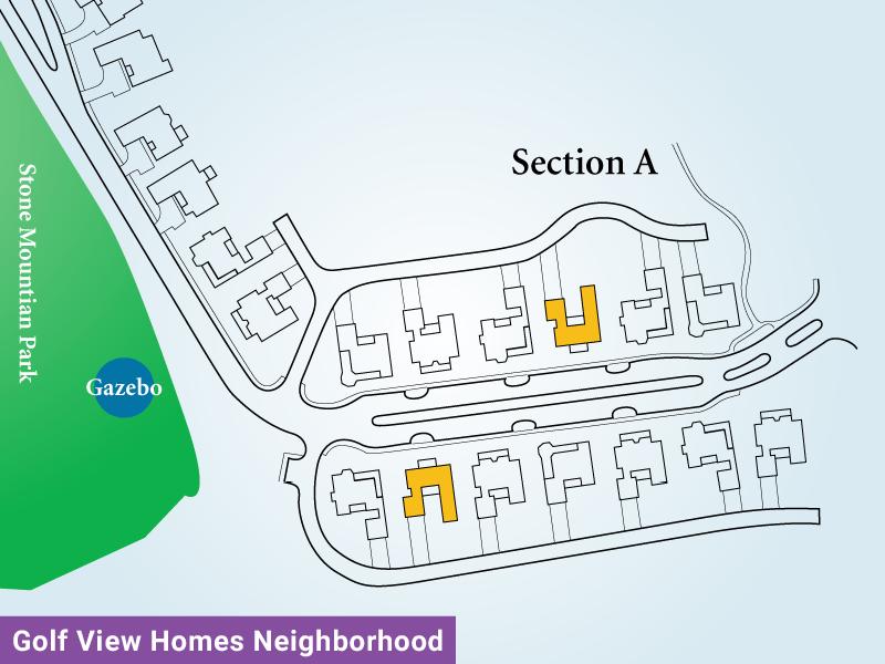 Golf View Homes Neighborhood Unit A3 Map