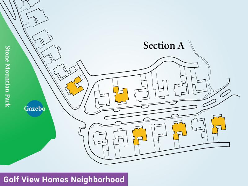Golf View Homes Neighborhood Unit A4 Map