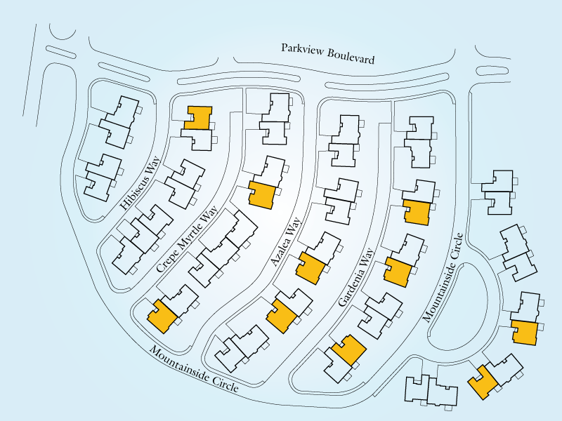 Mountain View Cottages Neighborhood Unit C3 Map