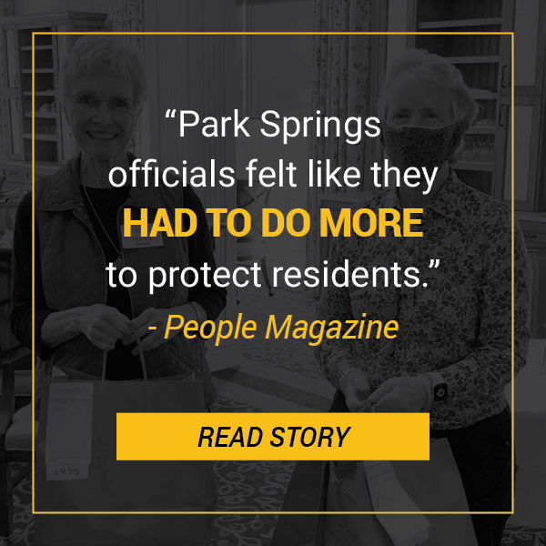 People Magazine: Park Springs Staff Shelters-in-Place
