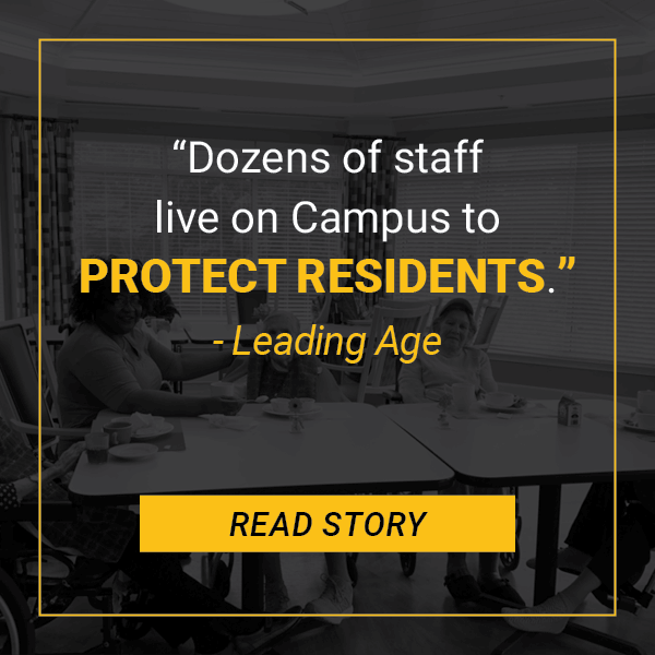 Leading Age: Park Springs Staff Live Campus to Protect Residents