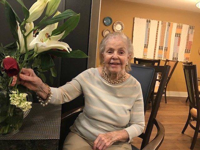 Patricia Hartrampf enjoys flowers