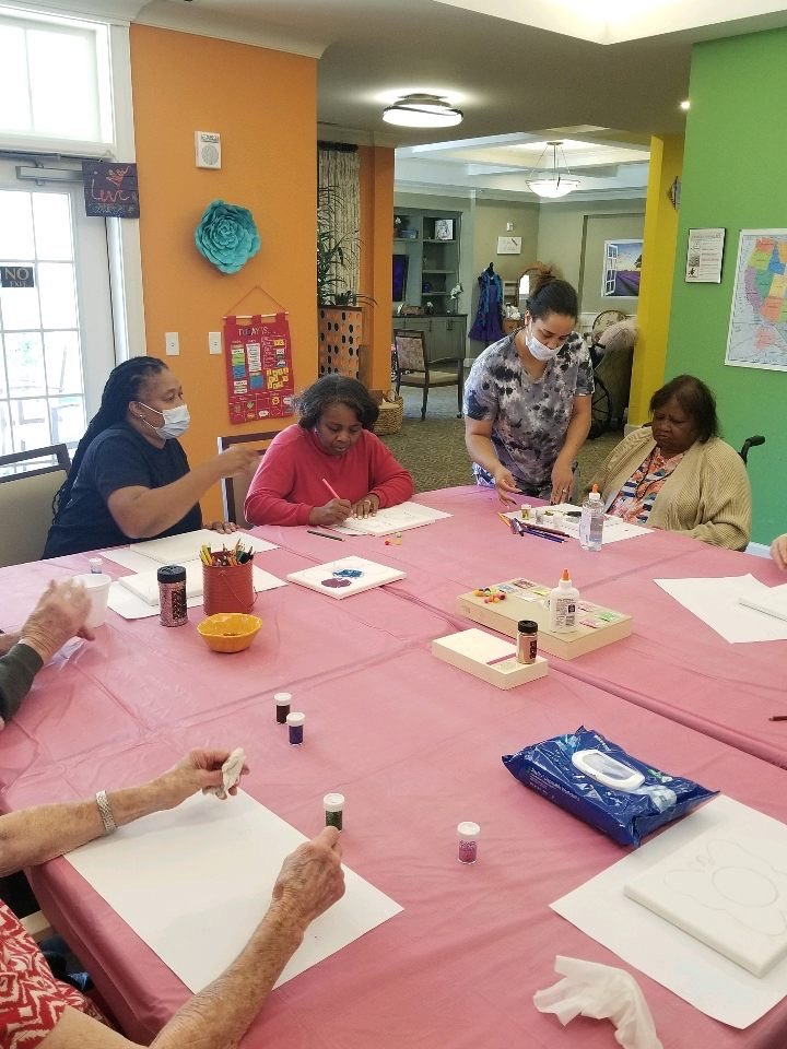 Pebblebrook Memory Care Art Projects