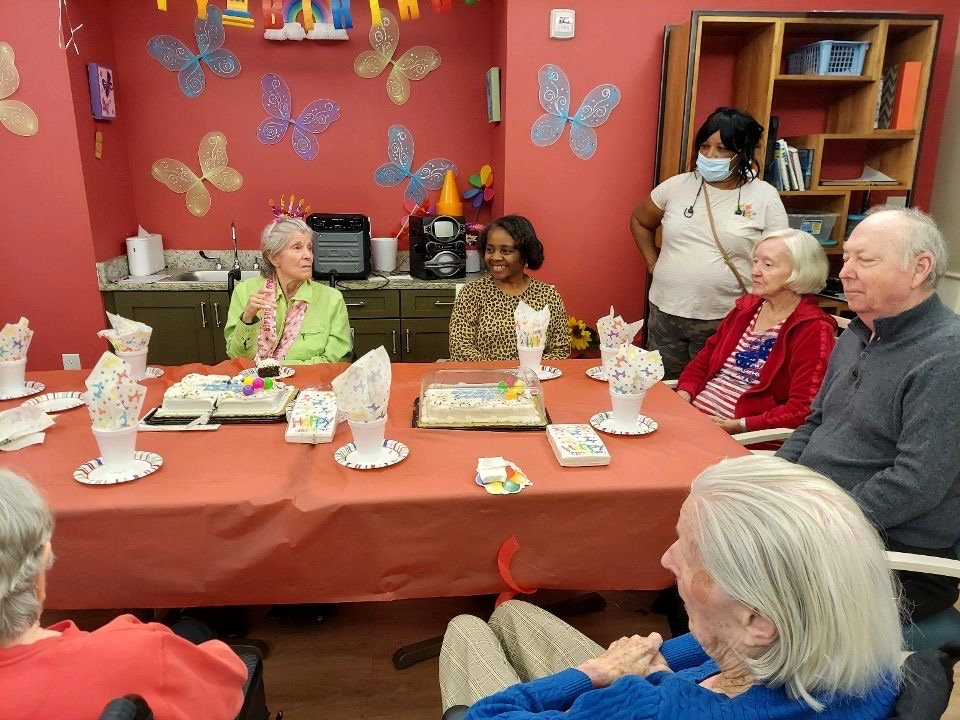 Pebblebrook Memory Care members birthday party