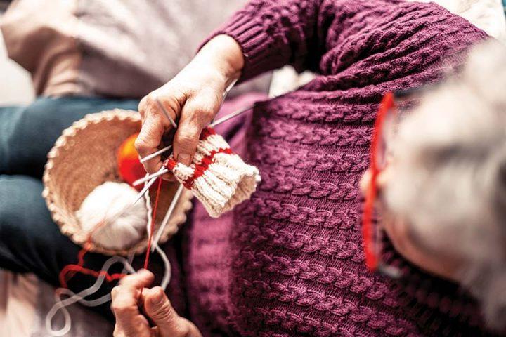 Woman-Crocheting
